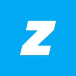 A white Z on a blue background for Zova logo