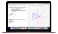 A Mac loaded with Xcode showing a graphical display